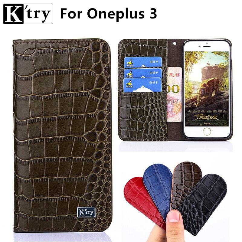 Oneplus 3 Cas Un Plus 3 Cas K'try De Luxe Flip Style Portefeuille en cuir Coque Téléphone Sac Pour Oneplus3 Oneplus 3 T Cas de Couverture