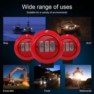 Image 5 - 1 Uds 30W redondo rojo foco de trabajo foco para Offroad camión Tractor SUV conducción lámpara 4000lm flujo 6000K rojo redondo luz de trabajo