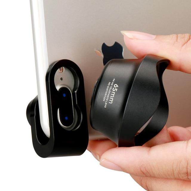 Ulanzi lente de teleobjetivo 4K HD para teléfono móvil, lente de cámara con Clip para iPhone 8 7 X Plus Samsung S8 S9