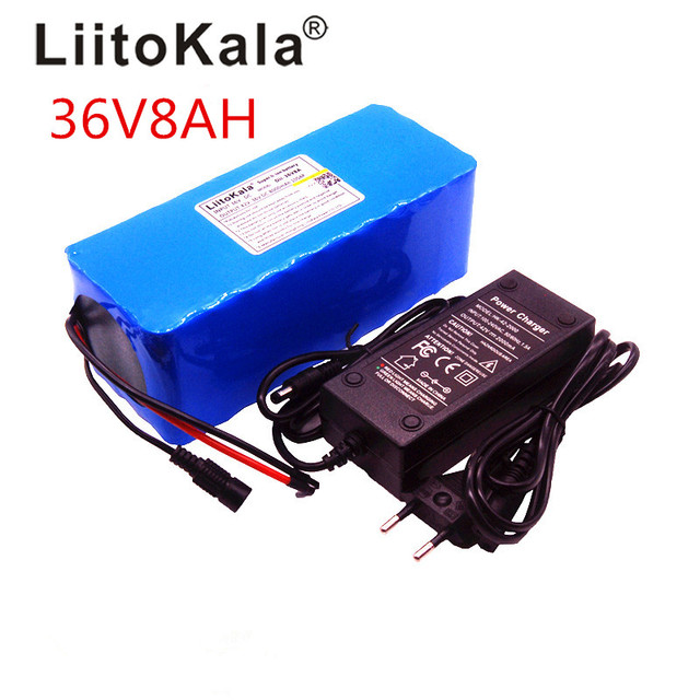 Liitokala 36 В 8ah высокое Ёмкость литиевых Батарея Pacote де масса + 42 В 2A chager