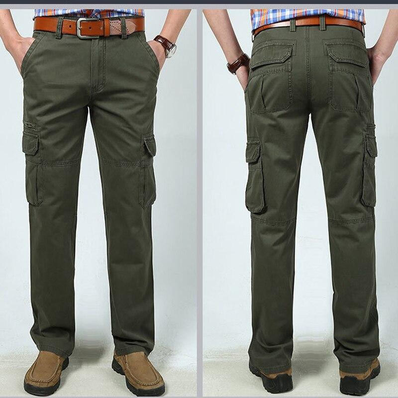 2019New Для мужчин 100% хлопок и более карманный тактический повседневные штаны плюс Размеры носить комбинезоны рабочие брюки 5 видов цветов 4XL