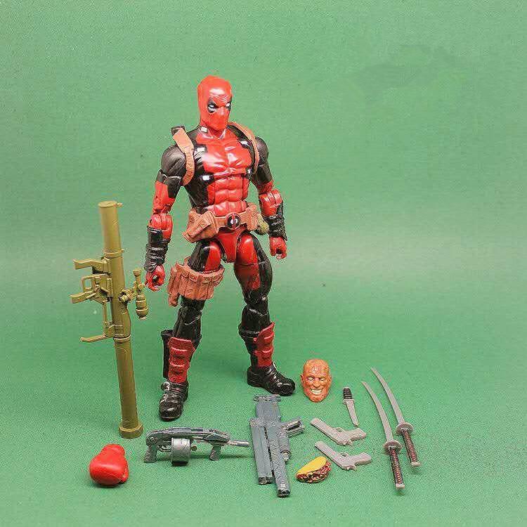 x men deadpool super warrior pvc action figures collectible model toys 36cm kt1979 Deadpool Action Figures 160mm Game Toy X-Men Deadpool Wade Winston Superhero Collectible Model Toy