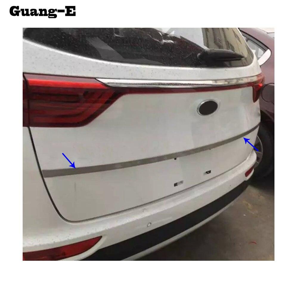C couvercle acier inoxydable plaque d'immatriculation arrière porte hayon cadre plaque garniture lampe capots 1 pièces pour Kia Sportage KX5 2016 2017 2018
