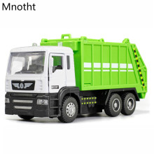 1:32 Garbage Truck Trash Bin Vehicles Diecast Model Car Toy Kids Boys Gift Metal Diecast Car Model Collection Toys L60 saintgi lp700 gallardo super toy reventon automobili s p a miura 1 24 diecast metal miniature model gift collection car assembly