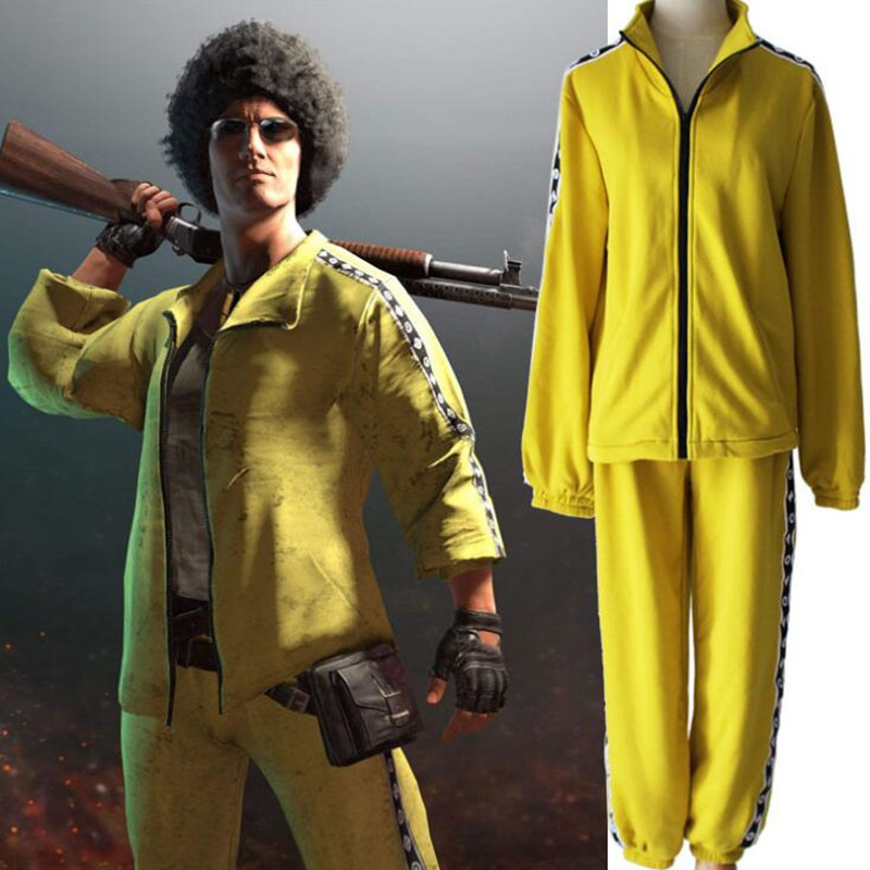 Game PUBG Clothes Playerunknown's Battlegrounds Cloth Little Yellow Coat Cosplay Costume Top Pants Costume Set
