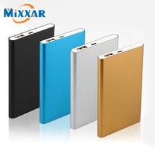 ZK90 Mixxar Metal Slim 7800mAh Power Bank USB External Backup Battery Portable Charger PowerBank For Universal SmartPhone