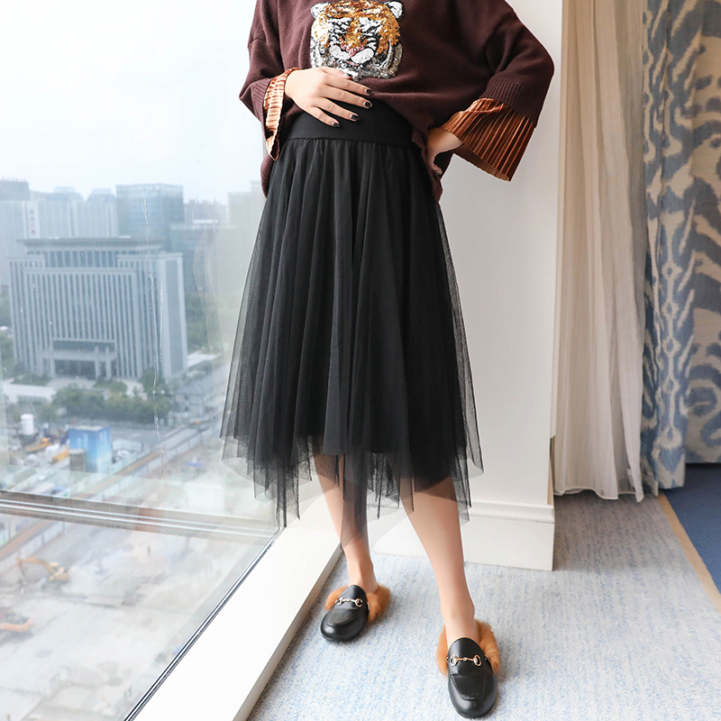 2018 spring pregnancy skirts maternity women sexy pencil ankle length solid pregnant skirt casual package hip maternity skirts