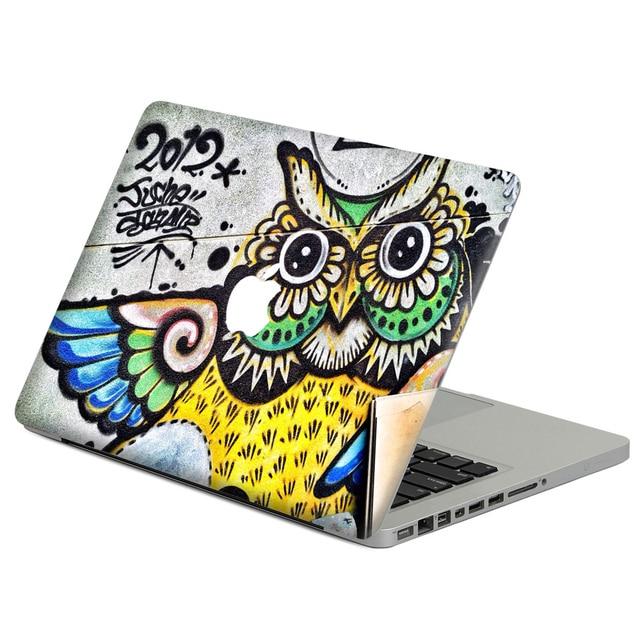 new arrivals e673d 9baeb US $6.59 45% OFF|Cool Owl graffiti Laptop Decal Sticker Skin For MacBook  Air Pro Retina 11