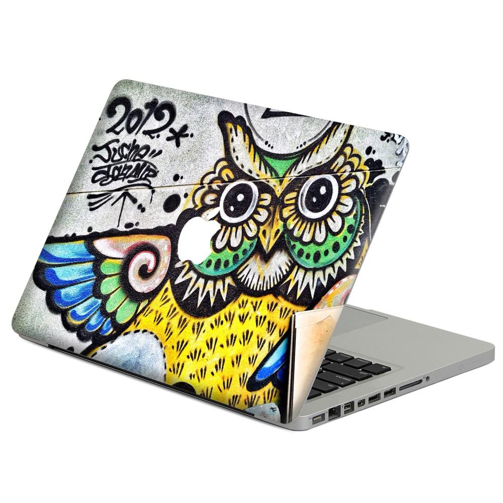 Cool Owl graffiti Laptop Decal Sticker Skin For MacBook Air Pro Retina 11 13 15 Vinyl Mac Case Body Full Cover Skin