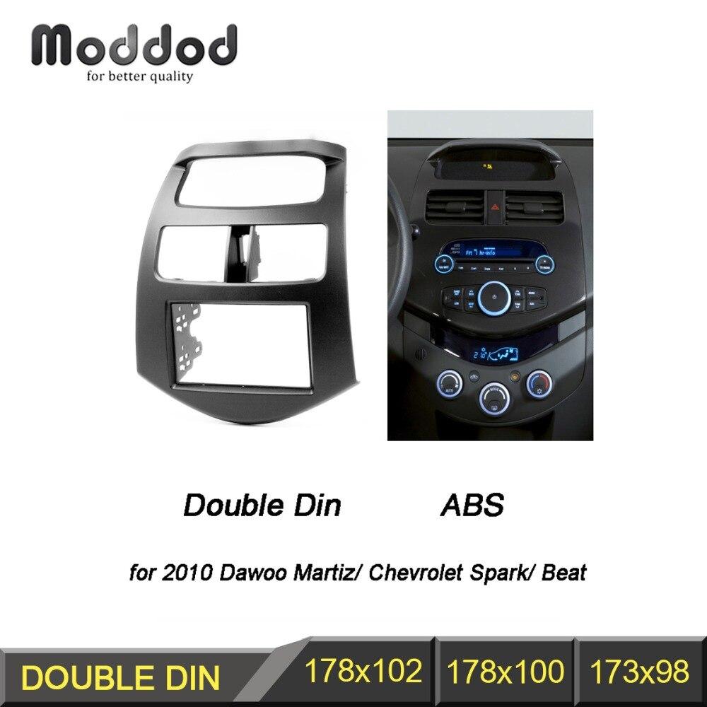 Double Din Fascia for Chevrolet Spark M300 Radio Frame GPS DVD Stereo CD Panel Dash Mount