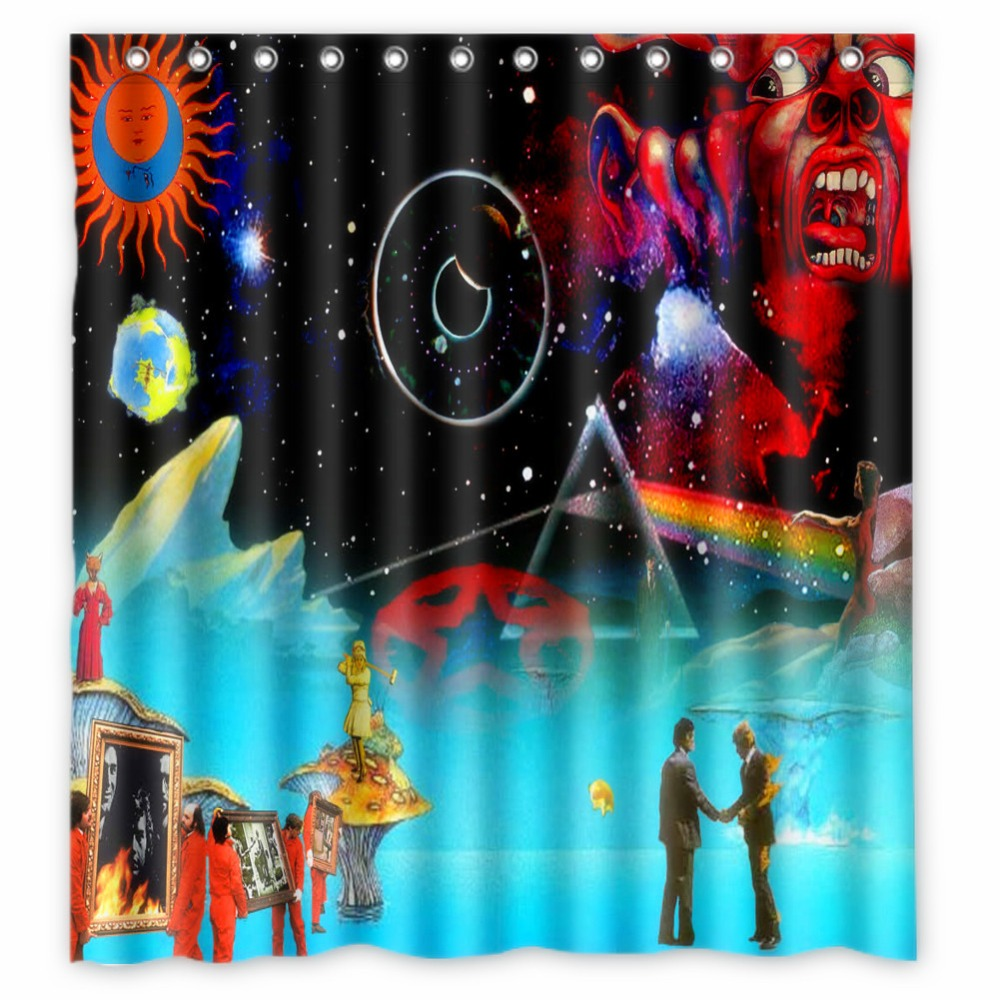 Fairy shower curtain - Anime Shower Curtain One Piece Dragon Ball Z Bleach Fairy Tail Naruto Together King Crimson Shower Curtain 66x72 Inch In Shower Curtains From Home Garden