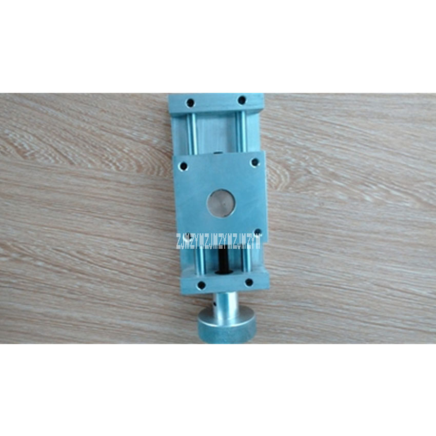 все цены на Precision Cross Slide 55 Type Sliding Table CNC Hand Worktable Ball Screw Carriage XY Axis Linear Module Stroke 50MM Hot Selling онлайн