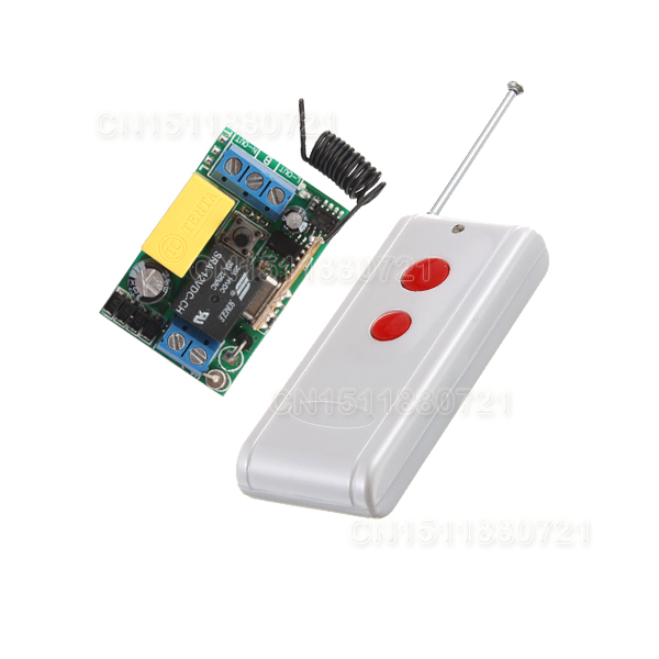 220V Wireless Switch Wireless Receiver&Transmitter 220V 1CH 10A Input Output 220V 315/43 ...
