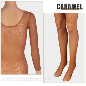 Image 3 - Latin Full Body Jumpsuits Professional Fishnet Ballroom&Latin Dance Hard Yarn Elastic Latin Stockings Pantyhose