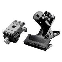"""Neewer 360 Pivotant Mini Rotule Photographie Pince avec Speedlite Flash Froide Chaussures 1/4 """"3/8"""" filets de la Monture Adaptateur pour Canon/Nikon"""
