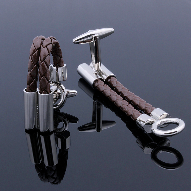 Good Designer Leather Chain Cuff Lings For Men Shirts Accessories Jewelry Cuff Link