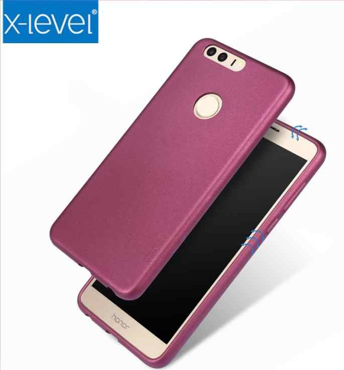 X-Level Soft Matte TPU Case for Huawei honor 8 9 V9 P8 lite P9 P10 plus full cover case for mate 9 pro enjoy 7 PLUS silicon case