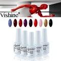 Vishine 8 МЛ Горячей Продажи Природного УФ Гель Лак Для Ногтей Веганский Ингредиенты Безопасной и здоровый Нет Чип Гель Лак Для Ногтей Nail Art Top Base
