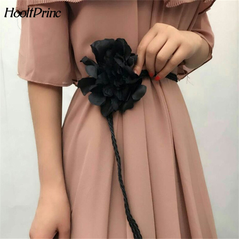 Hot sell fashionable   belts   for women big flower waist chain women's thin waist   belt   simple dress accessories waist chian
