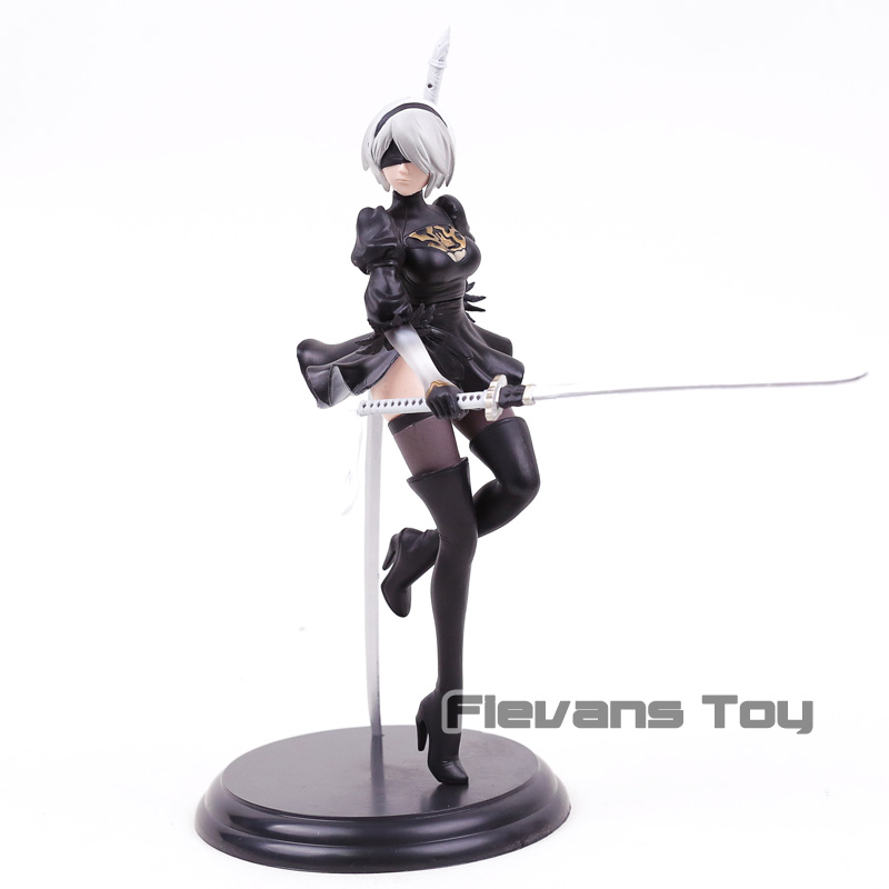 NieR Automata YoRHa No. 2 Type B <font><b>sexy</b></font> girl <font><b>2B</b></font> Game Anime Action Figure PVC Toy Collection Model image