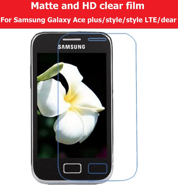 HD Clear Glossy Film For <font><b>Samsung</b></font> Galaxy Ace Plus I659 Style S756C <font><b>G310</b></font> Style LTE G357FZ Dear S6352 I619 Matte Film of Anti-Glare image
