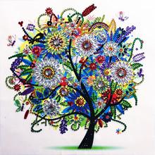 5D DIY Diamond Embroidered Seasons Tree Special Shape Diamond Painting Rhinestone Crystal Diamond Home Decor
