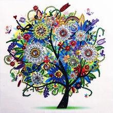 Peinture diamant quatre saisons, 5D, bricolage, arbre, forme spéciale, strass, cristal, décoration de la maison