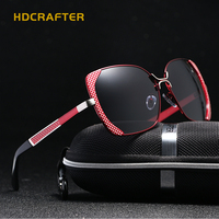 HDCRAFTER Eye Sunglasses Women Polarized Lenses Glasses Retro Sunglasses Style Gradient Colors Rays UV400
