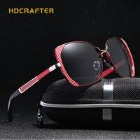 HDCRAFTER Eye Sunglasses Women Polarized Lenses Glasses Retro Sunglasses Style Gradient Colors Rays UV400