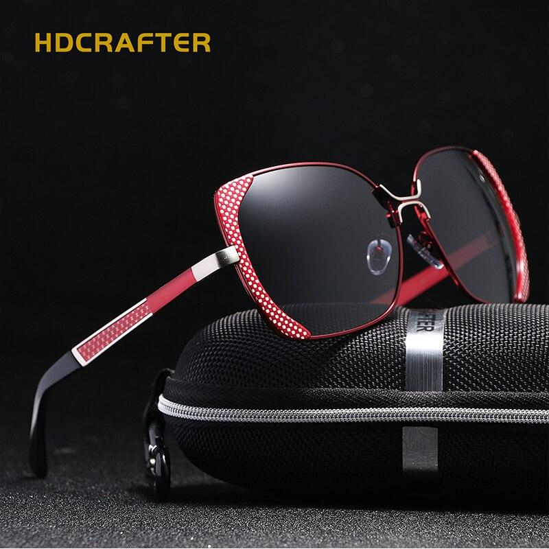 2018 Nouveau HDCRAFTER polarisées lunettes de soleil femmes marque designer Shades Femelle papillon lunettes de soleil Oculos De Sol Feminino UV400