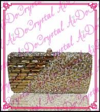 Aidocrystal handmade yellow crystals handbag for wedding party