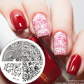 1 Pc BP Nail Stamping Plate Elegant Flower Nail Art Stamp Stamping Template Image Plate BORN PRETTY #17