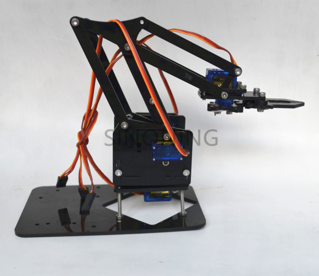Acrylic Mechanics Handle Robot robotic 4 DOF arm for arduino Created Learning Kit SG90
