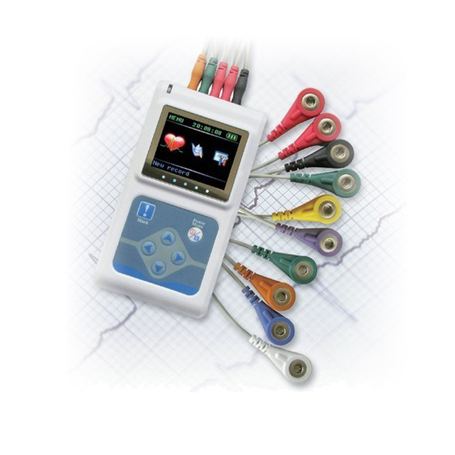 Diagnostic-tool TLC9803 Portable Cable 24 Hour Heart Monitoring 3 Channels Recordable Dynamic ECG System