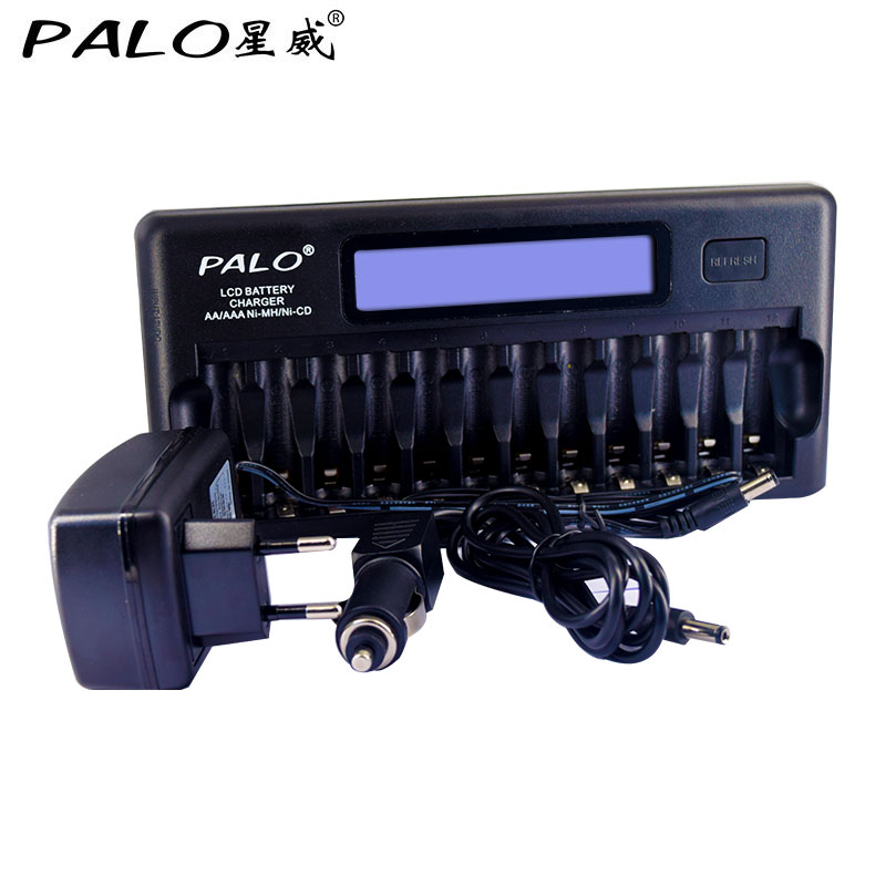12 slots Intelligent fast battery charger for AA/AAA NI-MH NI-CD Rechargeable Batteries Use rechargeable 1 2v 3800mah aa ni mh batteries pair