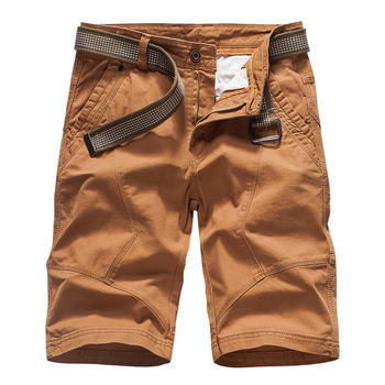New 2019 Multi-pocket Men Cargo Shorts Casual Loose Short Pants Solid Camo Military Summer Knee Length Plus Size Shorts 28-38