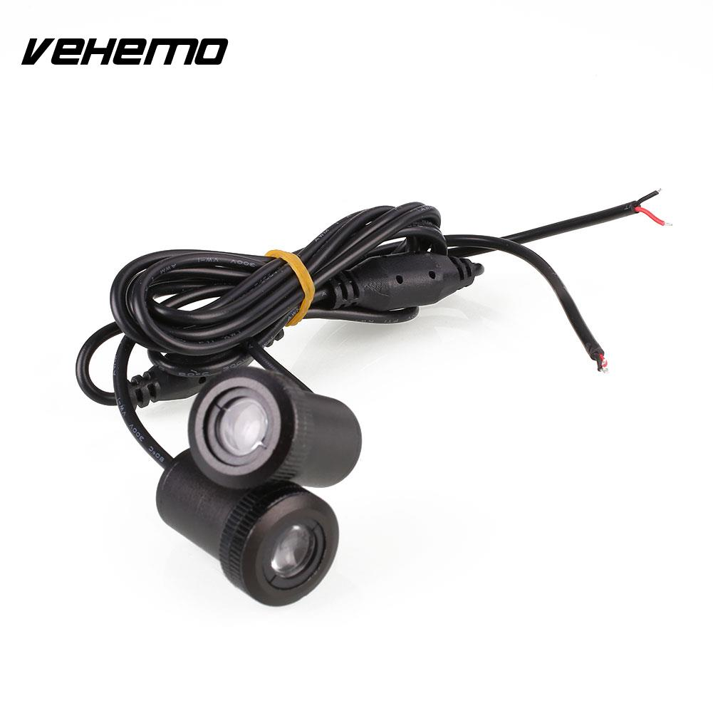 Vehemo 2pcs Car Auto LED Door Courtesy Logo Projector Shadow Light Lamp for Ford for most cars 2pcs led car door light courtesy logo laser projector punching ghost shadow lamp lights for cadillac logo