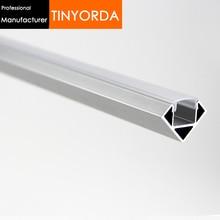 Tinyorda 100Pcs (1M Length) Led Alu Profile  Channel Profil for 12mm LED Strip Light [Professional Manufacturer]TAP1919F