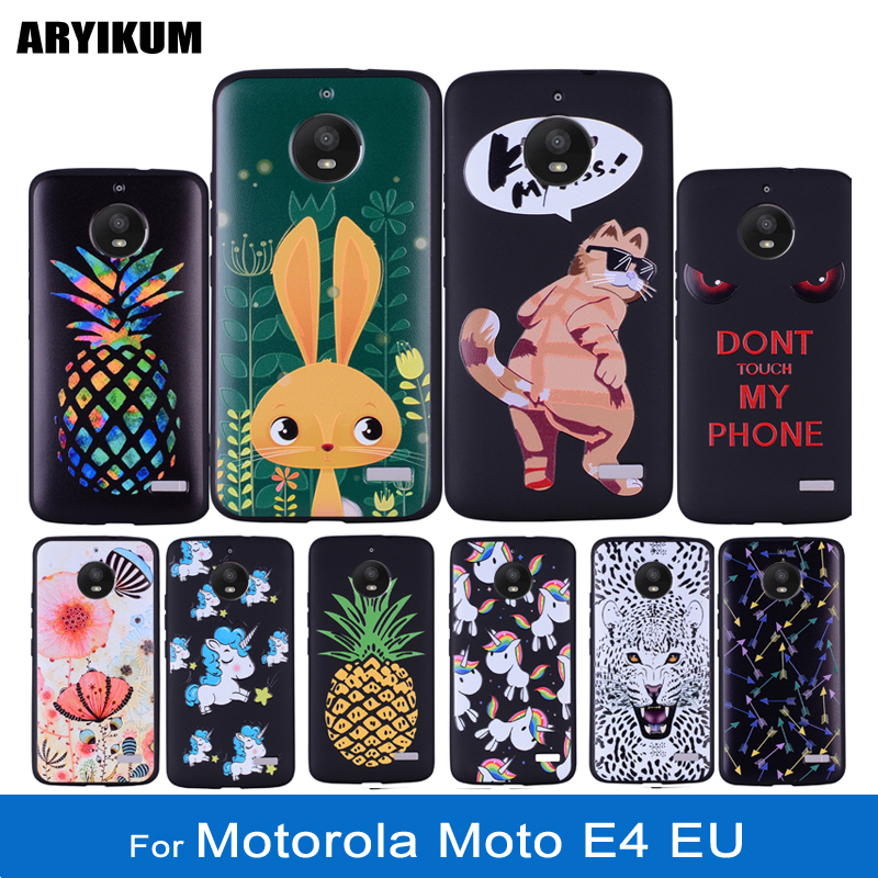 ARYIKUM For Motorola Moto E4 EU XT1762 XT1763 For Moto E4 E 4 Case 5.0 Silicone Back Cover Coque For Lenovo Moto E4 Funda etui ...