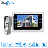 JeaTone 7 Inch TFT LCD Door Phone Video Doorbell System With Camera 3 7mm Lens 1200TVL