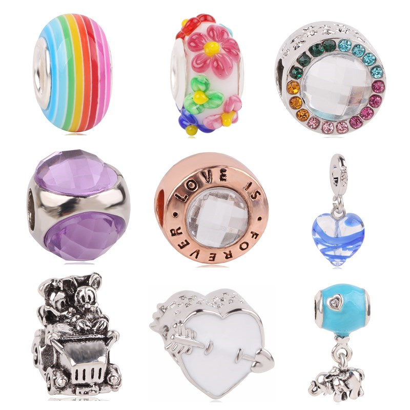 Beads Beads & Jewelry Making Punctual Couqcy Sparkling Murano Glass Beads Butterfly Charms Fit Original Pandora Bracelet Diy Jewelry Making Women Gifts