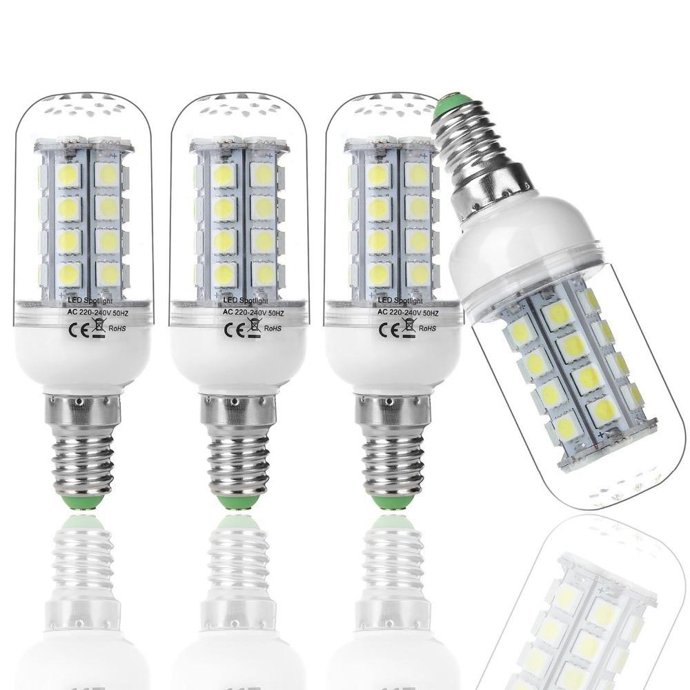 4 x e14 36 5050smd 220v 5w ampoule led spotlight led lampe blanc froid 5w corn led trpe e14. Black Bedroom Furniture Sets. Home Design Ideas