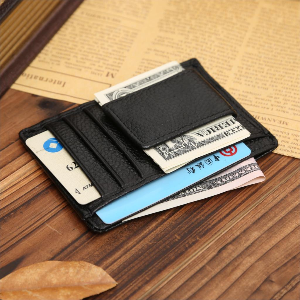 designer wallet with money clip jdg6  Magnetic Top Nubuck Leather Wallet Men Dollar Price Money Clip Brand  Designer Male Monederos Card Slots