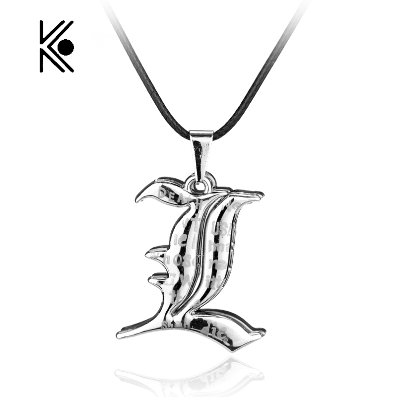 Free Shipping Death Note Double L Yagami Non Mainstream Necklace Smart  Anime Fashion Jewelry Pendant