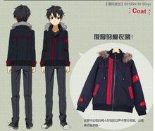 NEW Kazuto Kirigaya Kirito Sword Art Online Black Jacket Cosplay version B