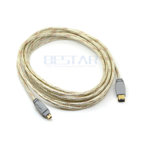 Image 5 - 4.5 M 4 P 4 פינים עד 6 פינים IEEE 1394 iLink מתאם כבל IEEE1394 4Pin כדי 6Pin Firewire כבל עבור DV