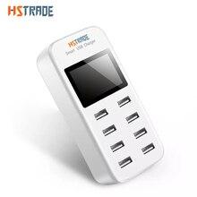 Hstraoe 8 Порты smart usb Зарядное устройство для Samsung IPhone IPad со светодиодной Дисплей Быстрая зарядка 5 В/8A стены адаптер телефон Универсальный