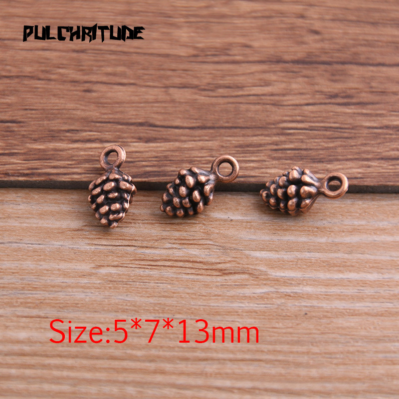 20pcs 5*7*13mm New Three Color Pine Nut Charms  Christmas Pendants For DIY Jewelry Handmade Making Accessorie P6794 3