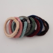 20PCS Assorted Colors Wool Cords Crochet Elastic Ponytail Holders Hair bands  Rope 4f8a2d4a7e8