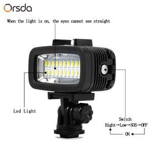 Image 5 - Orsda Duiken Licht Video Led High Power Outdoor Waterdichte Lamp Voor Gopro Xiaoyi Sjcam Sport Action Camera Flash Gopro Lichten
